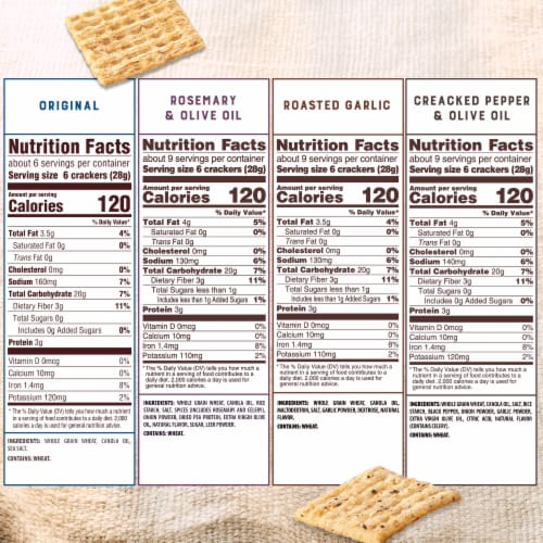 Triscuit Variety Crackers Perspective: back