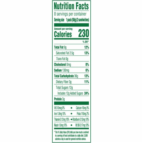 belVita Sandwich Dark Chocolate Creme Breakfast Biscuits Perspective: back