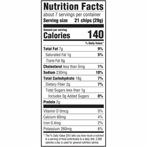 Ritz Cheese Crispers Cheddar Potato and Wheat Chips Perspective: back