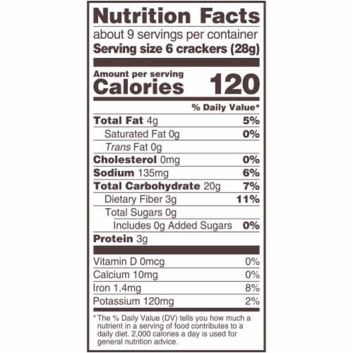 Triscuit Tzatziki Whole Grain Wheat Crackers Perspective: back