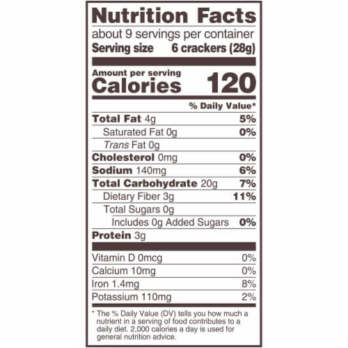 Triscuit Cheddar Whole Grain Wheat Crackers Perspective: back