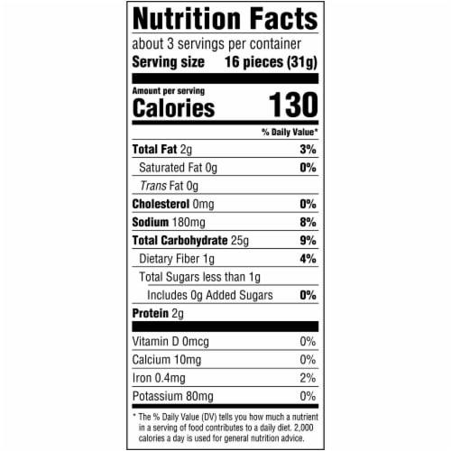 Good Thins Gluten Free Garden Veggie Crackers Perspective: back