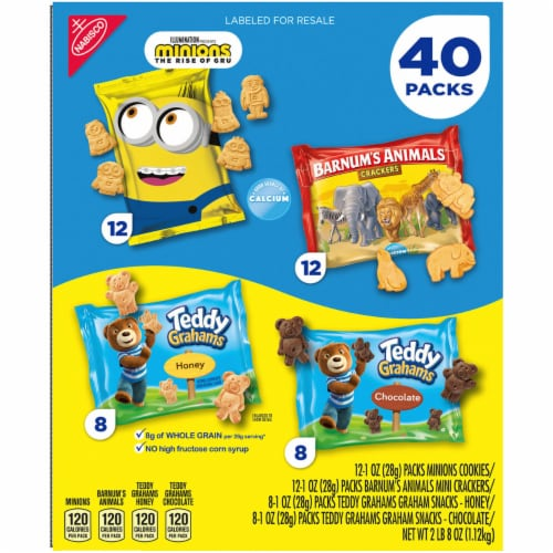 Nabisco Fun Shapes Variety Pack, 1 Ounce (40 Pack) Perspective: back
