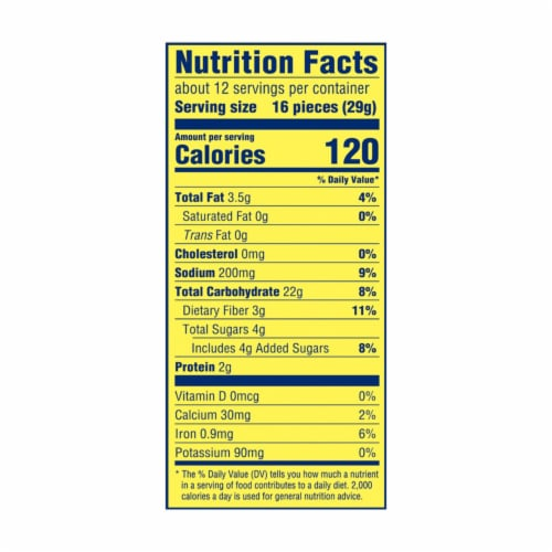 Wheat Thins Reduced Fat Crackers Family Size Perspective: back