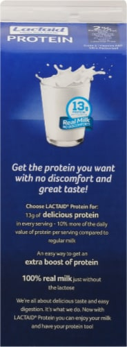 Lactaid 2% Protein Lactose Free Milk Perspective: back