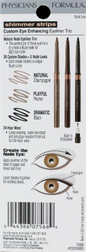 Physicians Formula Shimmer Strips Custom Eye Enhancing 7568 Nude Eyes Eyeliner Trio Perspective: back