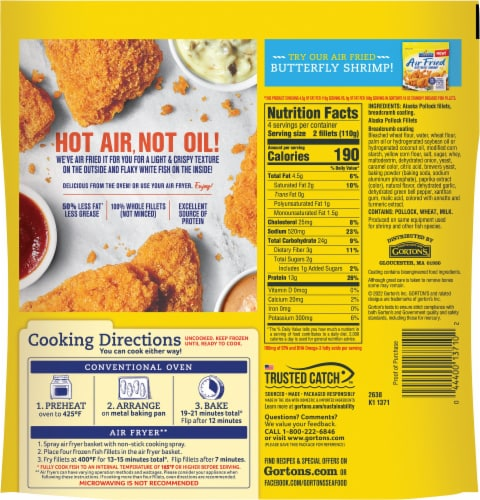 Gorton's® Air Fried Fish Fillets Perspective: back
