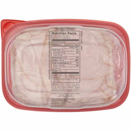 Hillshire Farm® Ultra Thin Sliced Lunchmeat Oven Roasted Turkey Breast Deli Lunch Meat Perspective: back