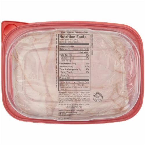 Hillshire Farm Ultra Thin Sliced Honey Roasted Turkey Breast Lunch Meat Perspective: back