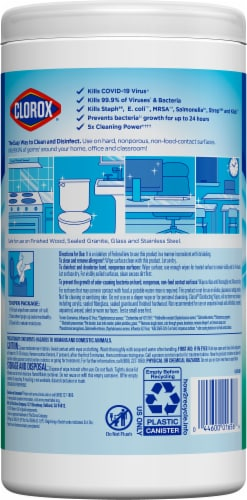 Clorox Fresh Scent Disinfectant Wipes Perspective: back