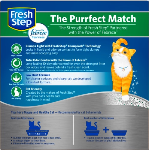 Fresh Step Odor Shield with Febreze Freshness Clumping Cat Litter Perspective: back