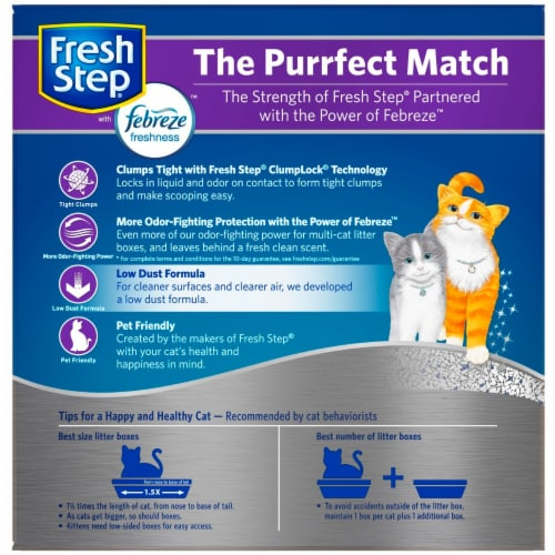 Fresh Step Febreze Freshness Multi-Cat Clumping Cat Litter Perspective: back