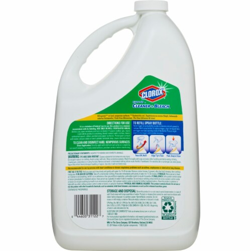 Clorox Clean-Up Original All Purpose Cleaner with Bleach Refill Bottle Perspective: back