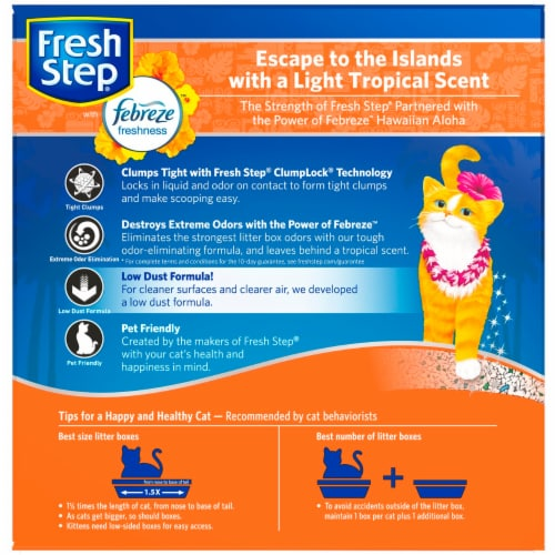 Fresh Step Extreme with Febreze Freshness Hawaiian Aloha Scent Clumping Cat Litter Perspective: back