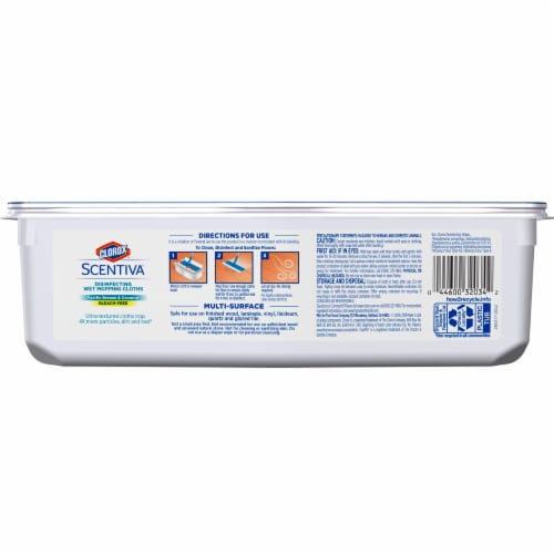 Clorox Scentiva Pacific Breeze & Coconut Disinfecting Wet Mopping Cloths Perspective: back