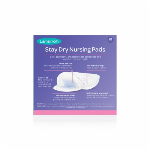 Lansinoh Stay Dry Disposable Nursing Pads Perspective: back
