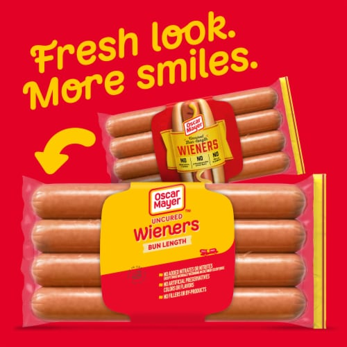 Oscar Mayer™ Uncured Bun-Length Wieners Perspective: back
