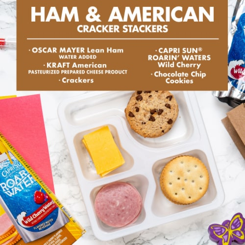 Lunchables Ham & American Cracker Stackers Perspective: back