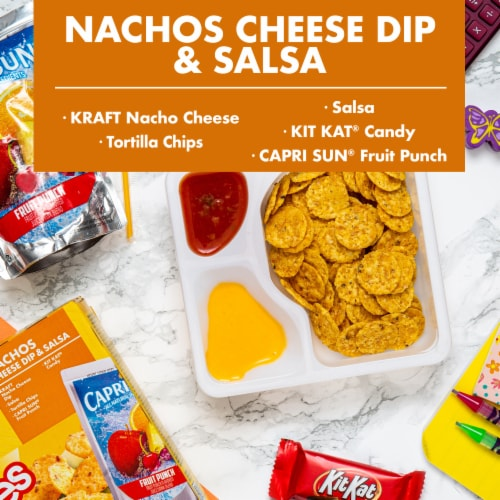 Lunchables Nachos Cheese Dip & Salsa Perspective: back
