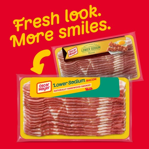 Oscar Mayer Gluten Free Naturally Hardwood Smoked Lower Sodium Bacon Perspective: back