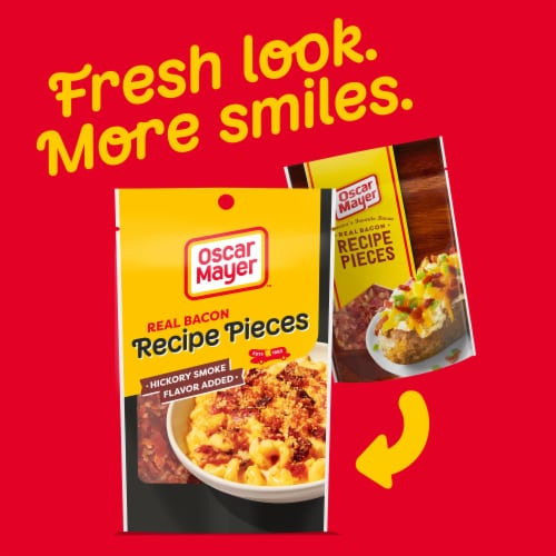 Oscar Mayer Real Bacon Recipe Pieces Perspective: back