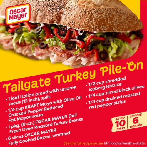 Oscar Mayer Deli Fresh Gluten Free Oven Roasted Turkey Breast Lunch Meat Perspective: back