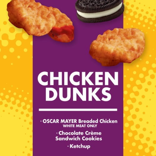 Lunchables Chicken Dunks Snack Kit with Chocolate Sandwich Cookies Perspective: back