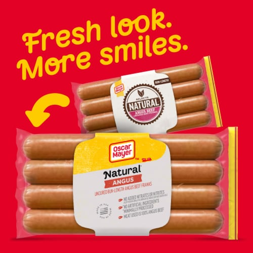 Oscar Mayer™ Selects Natural Gluten Free Bun-Length Angus Uncured Beef Franks Perspective: back