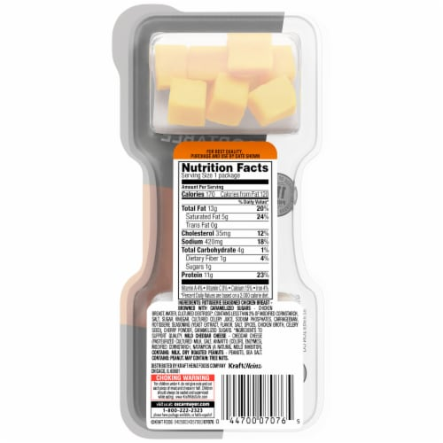P3 Chicken Cheddar & Peanuts Portable Protein Pack Perspective: back