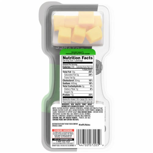 P3 Turkey Cheddar & Peanuts Portable Protein Pack Perspective: back