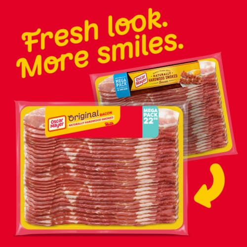 Oscar Mayer Naturally Gluten Free Hardwood Smoked Bacon Mega Pack Perspective: back