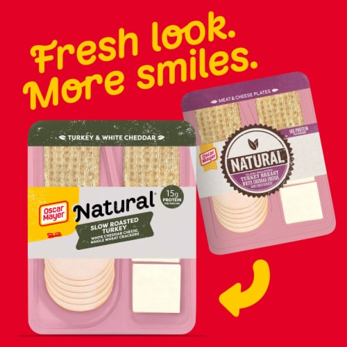 Oscar Mayer Natural Slow Roasted Turkey Breast White Cheddar Cheese & Whole Wheat Crackers Perspective: back
