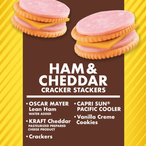 Lunchables Ham and Cheddar Cracker Stackers Meal Perspective: back