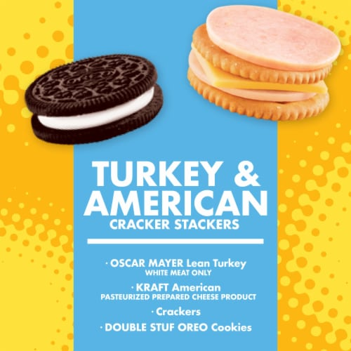 Lunchables Turkey & American Cracker Stackers Perspective: back