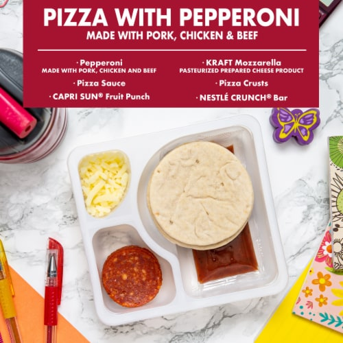 Lunchables Pizza with Pepperoni Perspective: back