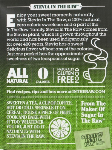 Stevia In The Raw Zero Calorie Sweetener Perspective: back