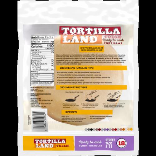 Tortilla Land Ready-to-Cook Street Taco Flour Tortillas Perspective: back