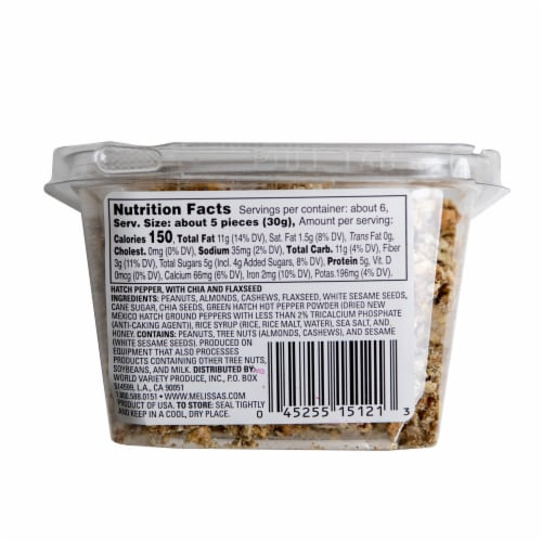 Melissa's Hatch Chile Clean Snax Gluten-Free Snack (Approximate Delivery is 3-5 Days) Perspective: back