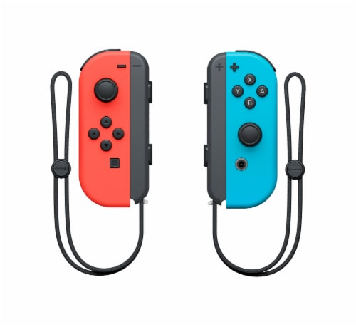 Nintendo Switch Joy-Con (L/R) Controller - Neon Red/Neon Blue Perspective: back