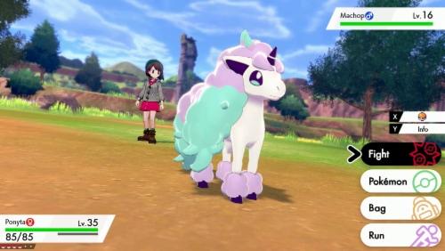 Pokemon Shield (Nintendo Switch) Perspective: back