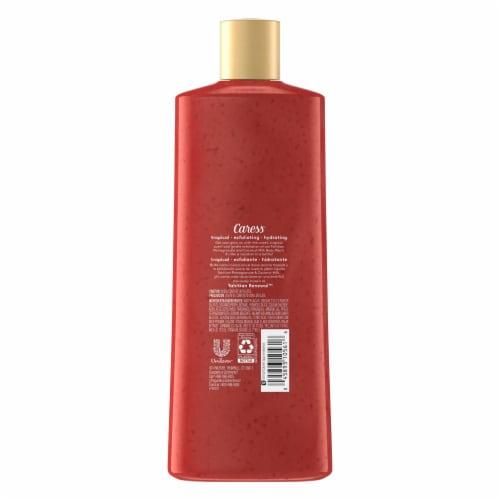 Caress Tahitian Pomegranate & Coconut Milk Exfoliating Body Wash Perspective: back