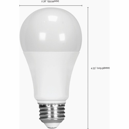 Satco 75W Equivalent Natural Light A19 Medium Dimmable LED Light Bulb S8484 Perspective: back