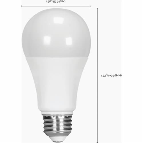 Satco 75W Equivalent Warm White A19 Medium Dimmable LED Light Bulb S8650 Perspective: back