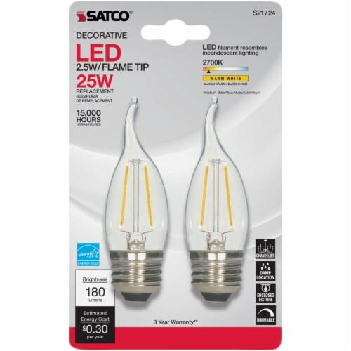 Satco 2pk 25w Ca10med Led Bulb S21724 Perspective: back