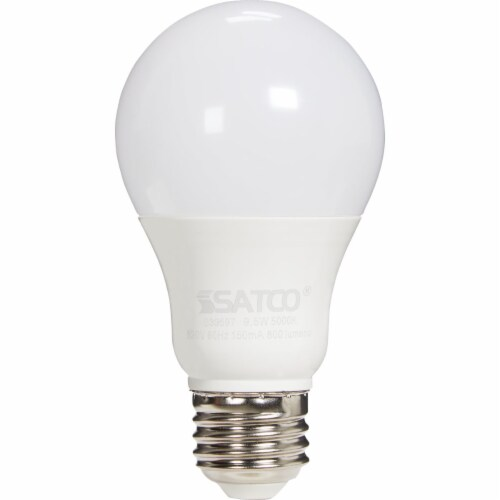 Satco 60W Equivalent Daylight A19 Medium LED Light Bulb (4-Pack) S39597 Perspective: back