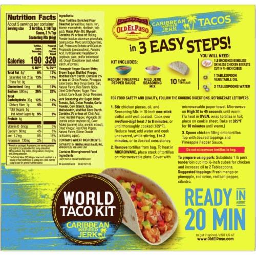 Old El Paso Caribbean Inspired Jerk World Taco Dinner Kit Perspective: back