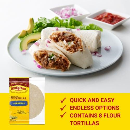 Old El Paso Burrito Flour Tortillas 8 Count Perspective: back