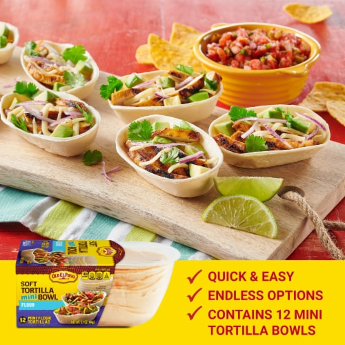 Old El Paso Mini Soft Flour Tortilla Taco Bowls Perspective: back
