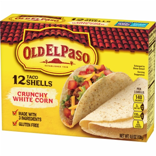 Old El Paso Crunchy White Corn Taco Shells Perspective: back