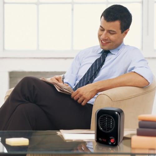 Lasko MyHeat Portable Personal Electric 200W Ceramic Space Heater - Black Perspective: back